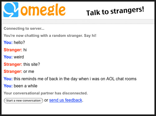 chat strangers talk with people
